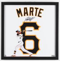 Starling Marte Signed Pirates 14x14 Custom Framed Photo Display (MLB Hologram) at PristineAuction.com