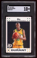 Kevin Durant 2007-08 Topps Rookie Set #2 RC (SGC 10) at PristineAuction.com