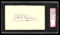 Chick Hearn Signed 3x5 Index Card (SGC Encapsulated) at PristineAuction.com