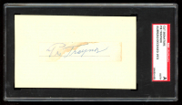 Pie Traynor Signed 3x5 Index Card (SGC Encapsulated) at PristineAuction.com