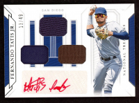 Fernando Tatis Jr. 2019 Panini National Treasures Game Gear Signatures Trio #3 at PristineAuction.com