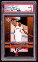 LeBron James 2003-04 Upper Deck Rookie Exclusives #1 RC (PSA 9) at PristineAuction.com