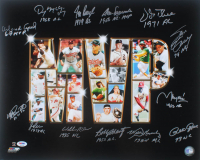 """Most Valuable Players"" 16x20 Photo Signed by (13) with Mike Schmidt, Orlando Cepeda, Jim Rice, Pete Rose, Denny McLain, Steve Garvey with (13) MVP Inscriptions (PSA LOA) at PristineAuction.com"