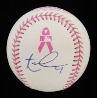 Aaron Nola Signed OML Breast Cancer Awareness Baseball (Beckett COA) at PristineAuction.com