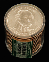 Ballistic Roll of (12) Never Circulated John Adams Presidential Dollars at PristineAuction.com