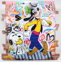 "Jozza Signed ""Goof's New Friend"" 48x48 Original Mixed Media on Board (See Description) at PristineAuction.com"