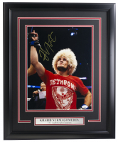 Khabib Nurmagomedov Signed 16x20 Custom Framed Photo Display (JSA COA) at PristineAuction.com
