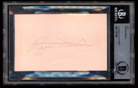 Pepper Martin Signed 3x5 Cut on Index Card (BGS Encapsulated) at PristineAuction.com