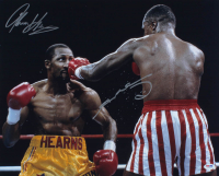 Sugar Ray Leonard & Thomas Hearns Signed 16x20 Photo (PSA COA) at PristineAuction.com