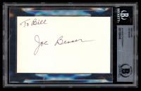 Joe Besser Signed 3x5 Index Card (BAS Encapsulated) at PristineAuction.com