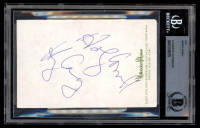 """Harry Caray Signed 3.5x5.5 Cut with Inscription Inscribed """"Holy Cow!!"""" (BAS Encapsulated) at PristineAuction.com"""