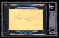 Roscoe Ates Signed 2.5x4.5 Cut (BAS Encapsulated) at PristineAuction.com