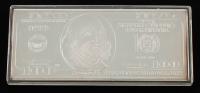 2017 Benjamin Franklin $100 One Hundred Dollar Silver Bar at PristineAuction.com
