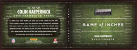 Colin Kaepernick 2014 Panini Playbook Game of Inches Jerseys #1 at PristineAuction.com
