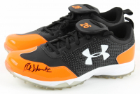 Pair of (2) Buck Showalter Signed Under Armour Baseball Cleats (JSA COA) at PristineAuction.com