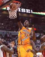 Roy Hibbert Signed Pacers 8x10 Photo (JSA COA) at PristineAuction.com