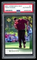 Tiger Woods 2001 Upper Deck #1 RC (PSA Authentic) at PristineAuction.com