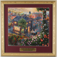"Thomas Kinkade Walt Disney's ""Lady & the Tramp"" 16x16 Custom Framed Print Display at PristineAuction.com"