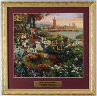 "Thomas Kinkade Walt Disney's ""101 Dalmations"" 16x16 Custom Framed Print Display at PristineAuction.com"