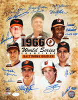 "Orioles 1966 World Series Champions 11x14 Photo Team-Signed by (14) with Frank Robinson, Brooks Robinson, Jim Palmer, Davey Johnson, Boog Powell Inscribed ""66 WS MVP"" (JSA LOA) at PristineAuction.com"