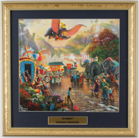 "Thomas Kinkade Walt Disney's ""Dumbo"" 16x16 Custom Framed Print Display at PristineAuction.com"