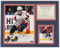 Alexander Ovechkin Capitals 11x14 Matted Photo Display With Stat Info Cut & 4x4 Photo (JSA COA) at PristineAuction.com