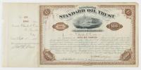 John D. Rockefeller Signed Stock Certificate (Beckett LOA) at PristineAuction.com