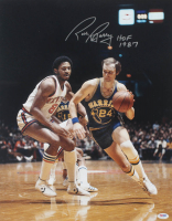 "Rick Barry Signed Warriors 16x20 Photo Inscribed ""HOF 1987"" (PSA COA) at PristineAuction.com"