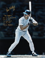 Don Mattingly Signed Yankees 16x20 Photo With Multiple Inscriptions & Career Stats (JSA COA) at PristineAuction.com