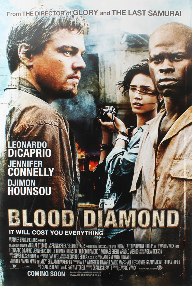 """""""Blood Diamond"""" 27x40 Teaser Movie Poster at PristineAuction.com"""
