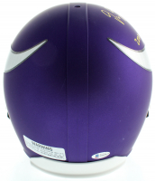 """Justin Jefferson Signed Vikings Full-Size Matte Speed Helmet Inscribed """"2020 1st Round Pick"""" (Beckett COA) at PristineAuction.com"""
