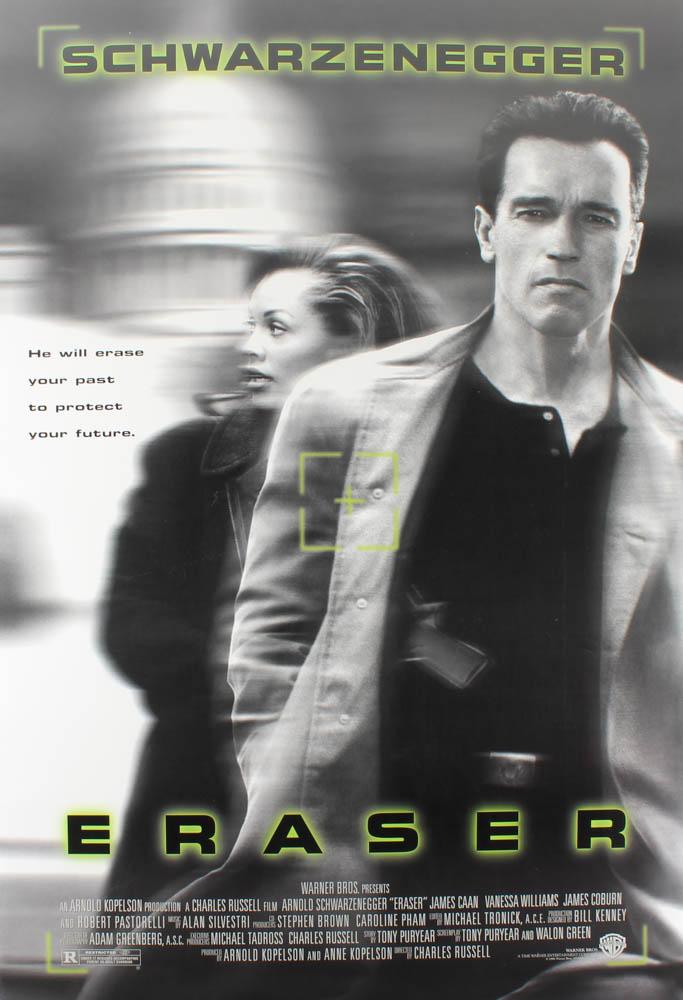 """""""Eraser"""" 27x40 Original Movie Poster at PristineAuction.com"""