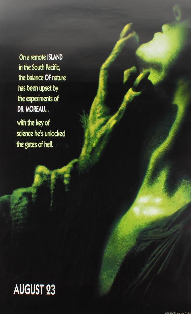 """""""The Island of Dr. Moreau"""" 27x40 Original Movie Poster at PristineAuction.com"""