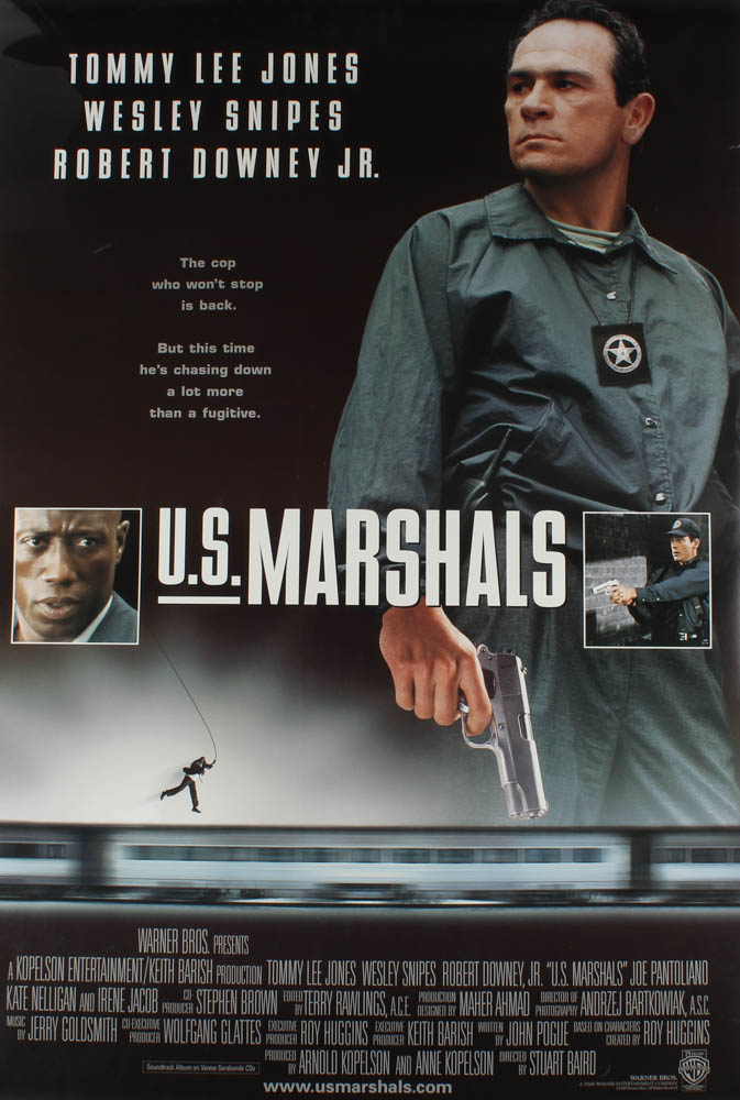 """U.S. Marshals"" 27x40 Original Movie Poster at PristineAuction.com"