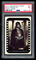 Dave Prowse as Darth Vader 1977 Star Wars Stickers #23 (PSA 7) at PristineAuction.com