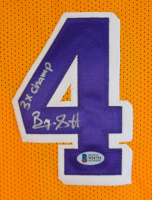 """Byron Scott Signed Jersey Inscribed """"3x Champ"""" (Beckett COA) at PristineAuction.com"""