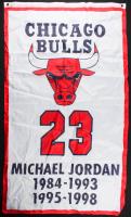 Michael Jordan Bulls NBA Finals Champions 36x60 Banner at PristineAuction.com