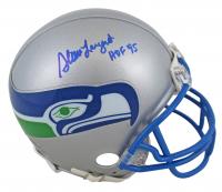 "Steve Largent Signed Seahawks Throwback Mini Helmet Inscribed ""HOF 95"" (Beckett COA) at PristineAuction.com"