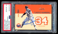 Nolan Ryan Signed 2003 Flair Greats Classic Numbers Game Used Jersey #9 (PSA Encapsulated) at PristineAuction.com