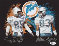 Mark Clayton & Mark Duper Signed Dolphins 8x10 Photo (JSA COA) at PristineAuction.com