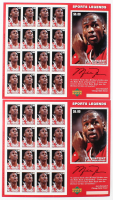 Lot of (2) Sheets of (16) Unused Michael Jordan St. Vincent & The Grenadines Sports Legends Stamps at PristineAuction.com