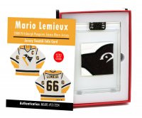 MARIO LEMIEUX 2000 PITTSBURGH PENGUINS GAME WORN JERSEY MYSTERY SWATCH BOX! at PristineAuction.com