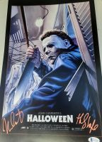 "Nick Castle Signed ""Halloween"" 11x17 Photo Inscribed ""The Shape"" (Beckett COA) at PristineAuction.com"