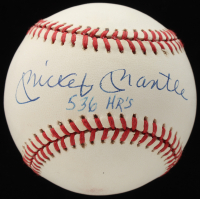 """Mickey Mantle Signed OAL Baseball Inscribed """"536 HR'S"""" (JSA ALOA) at PristineAuction.com"""
