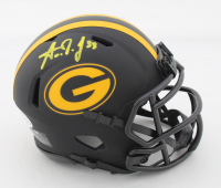 Aaron Jones Signed Packers Eclipse Alternate Speed Mini Helmet (Beckett COA) at PristineAuction.com