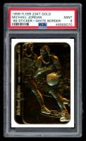 Michael Jordan 1998 Fleer 23kt Gold Sticker - White Border (PSA 9) at PristineAuction.com