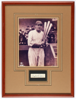 Babe Ruth Signed Yankees 15x20 Custom Framed Cut Display (JSA ALOA) at PristineAuction.com