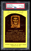 George Kelly Signed 3.5x5.5 Hall of Fame Postcard (PSA Encapsulated) at PristineAuction.com