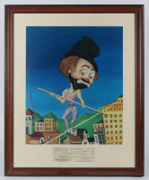 Red Skelton Signed 27x33 Custom Framed 1983 Bank Check Display with Print (JSA ALOA) at PristineAuction.com