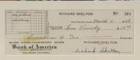 Red Skelton Signed 27x33 Custom Framed 1938 Bank Check Display with Print (JSA ALOA) at PristineAuction.com